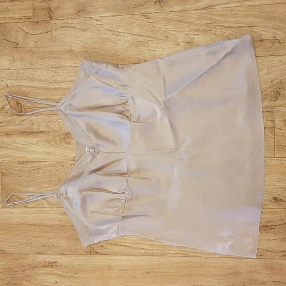 American eagle beige silk camisole size 4